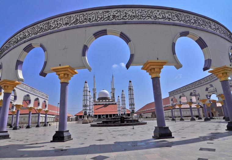 Megahnya Masjid Agung Jawa Tengah Di Semarang Ini