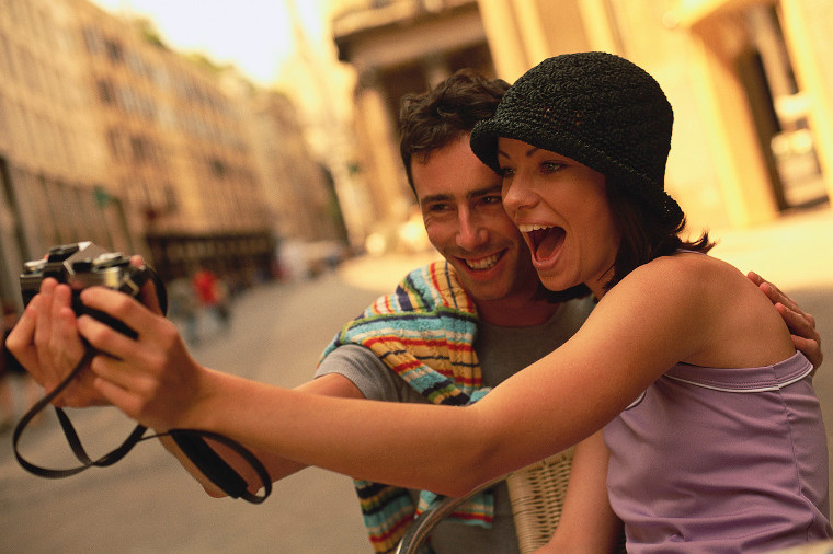 Couple Taking a Picture of Themselves Europe