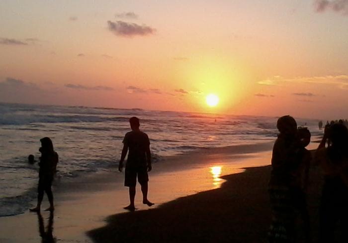 sunset parangtritis
