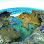 Pantai Kedung Tumpang, Tulungagung. Pantai Tak Berpasir Yang Dipenuhi Kolam Karang Alami