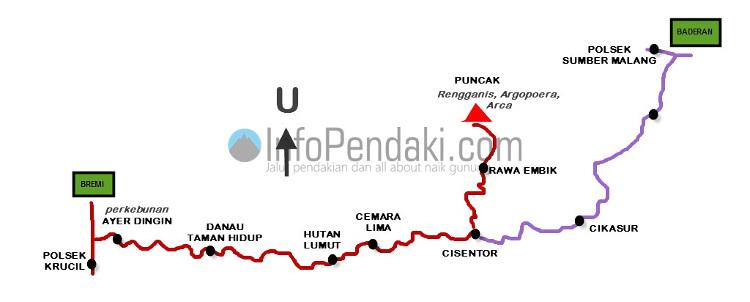 peta pendakian argopuro
