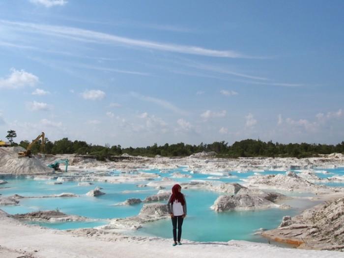 Danau Kaolin. Danau Cantik Bekas Penambangan di Belitung