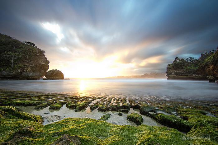 pantai batu bengkung sunset