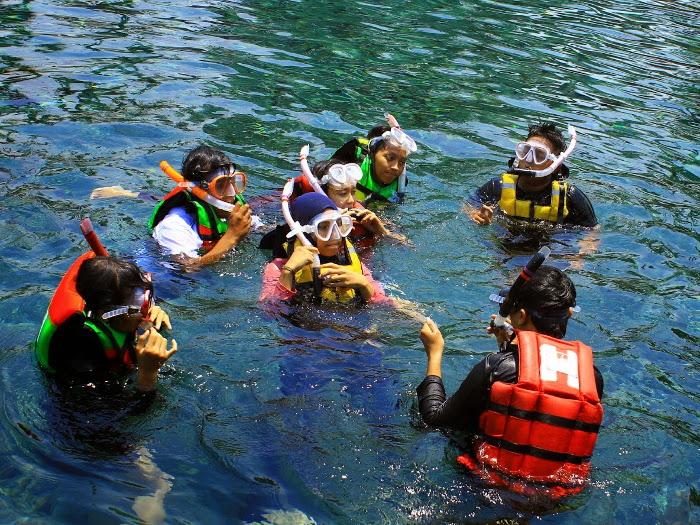 snorkeling ponggok