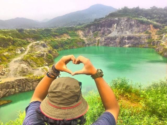 Danau Quarry. Bekas Tambang Batu Yang Jadi Potensi Wisata Baru di Bogor